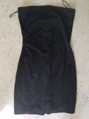 Mango Sukienka z dekoltem typu bandeau czarny
