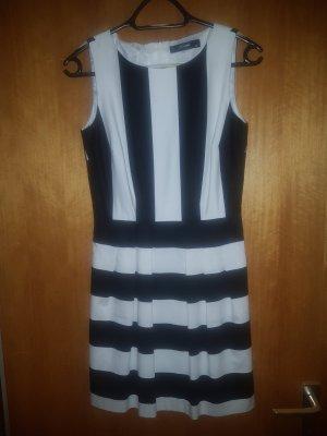 Hallhuber Sukienka z rękawem balonowym biały-czarny