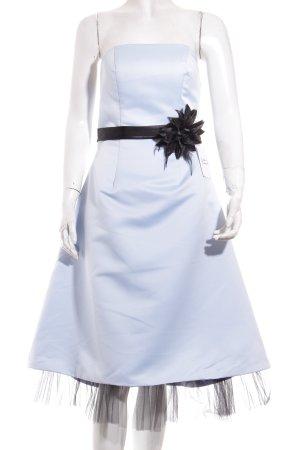 Cocktailkleid hellblau-schwarz Elegant