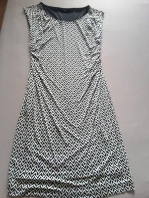 Laurèl Evening Dress black-white viscose