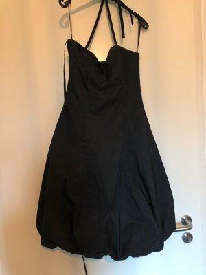 Robe ballon gris anthracite-noir