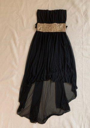Vestido mullet negro-color oro