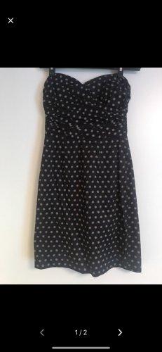 H&M Bandeau Dress black-natural white