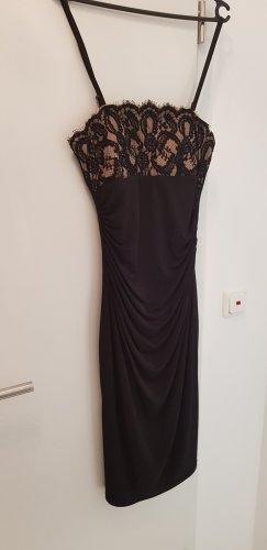 Apart Robe de cocktail noir-rose chair