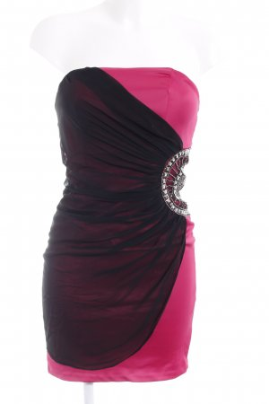 Cocktailkleid pink-schwarz Elegant