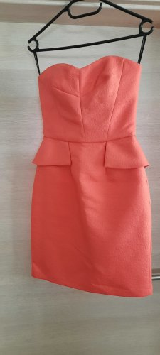 Spotlight by Warehouse Robe péplum saumon-rouge clair
