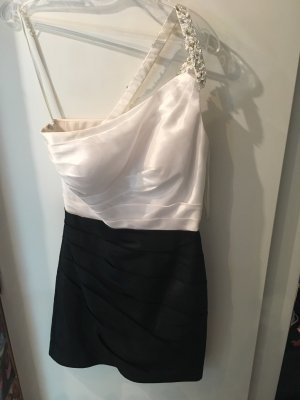 Cocktailkleid schwarz/weiß