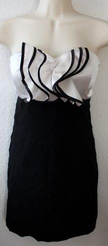 Cocktailkleid, schwarz weiß