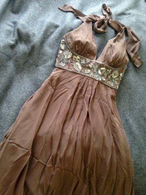 Donna Ricco Vestido de baile marrón Seda