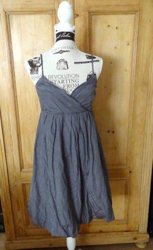Hallhuber Sukienka typu babydoll ciemnoszary Bawełna