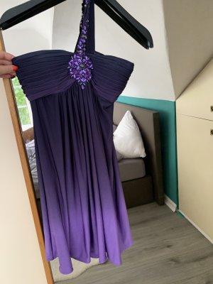 Cocktailkleid Sommerkleid Partykleid Hochzeit kurz lila S