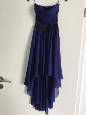 Cocktailkleid Vokuhila Kleid blau XS