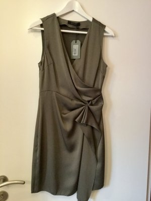 All Saints Spitalfields Cocktail Dress olive green polyester