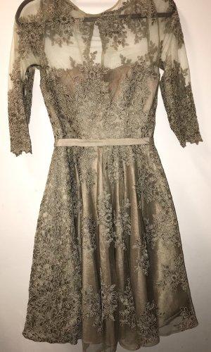 Apart Fashion Sukienka koktajlowa camel-szaro-brązowy