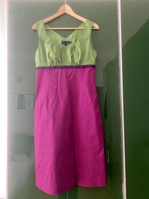 Boden London A-lijn jurk violet-groen Katoen