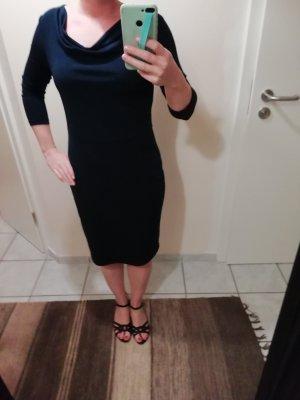 Esprit Robe de cocktail bleu foncé tissu mixte