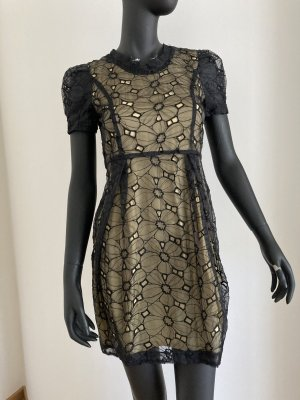 Jovonna London Robe ballon noir-doré polyester