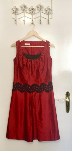 Laurèl Cocktail Dress black-red silk