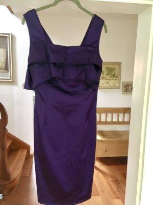 Chi Chi London Cocktail Dress dark violet acetate