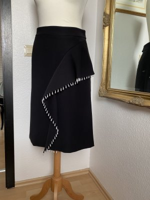 Classic & Style Couture Gonna asimmetrica nero-bianco Lycra