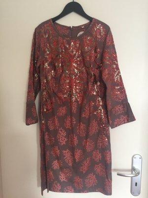 Almatrichi Sukienka koktajlowa czarny-ciemnoczerwony