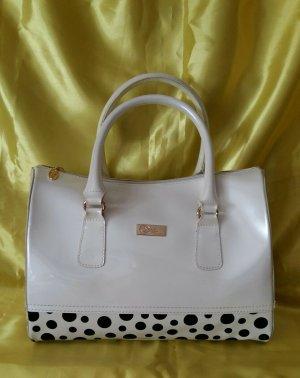 Coco California Jelly Bag weiß mit Punkten - neu, aber Abfärbung am Boden