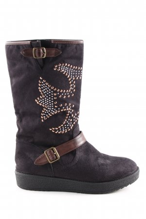 coco Short Boots brown abstract pattern casual look