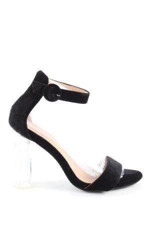 Coco Perla High Heel Sandaletten schwarz Casual-Look