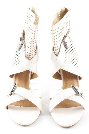 Coco Perla High Heel Sandaletten weiß Casual-Look
