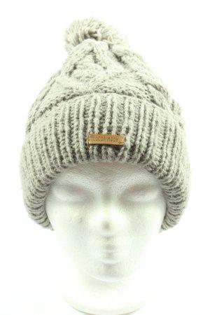 cocoa moon Bonnet à pompon gris clair style décontracté