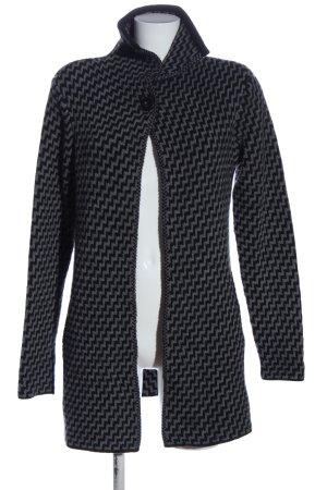 Cocogio Cardigan grigio chiaro-nero stampa integrale stile casual