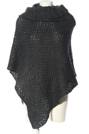 Cocogio Poncho grigio chiaro puntinato stile casual