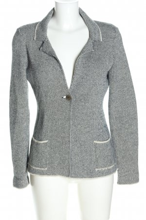 Cocogio Knitted Blazer black-natural white weave pattern business style