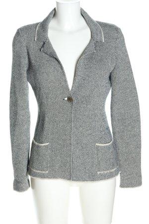 Cocogio Blazer in maglia nero-bianco sporco modello web stile professionale