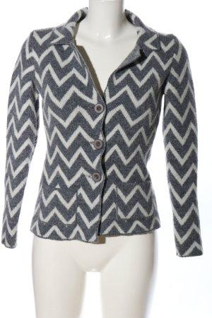 Cocogio Giacca di lana grigio chiaro-bianco stampa integrale stile casual