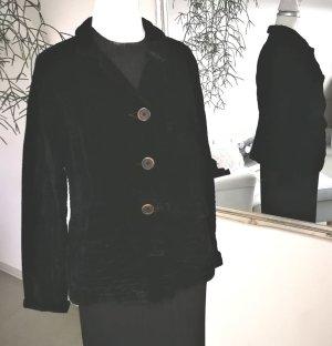 Long Blazer black silk