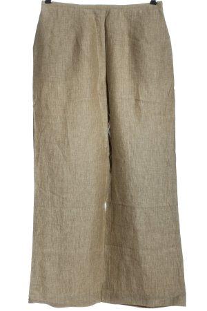 Cocon Fritzsch Pantalón de lino blanco puro estampado a rayas look casual