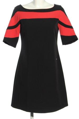Coconuda Kurzarmkleid schwarz-rot Streifenmuster Elegant