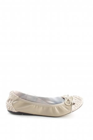 Cocorose faltbare Ballerinas wollweiß grafisches Muster Casual-Look