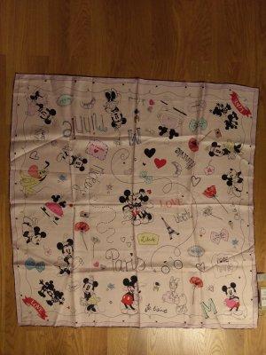 CODELLO x Disney Zijden doek zwart-lichtroze Zijde