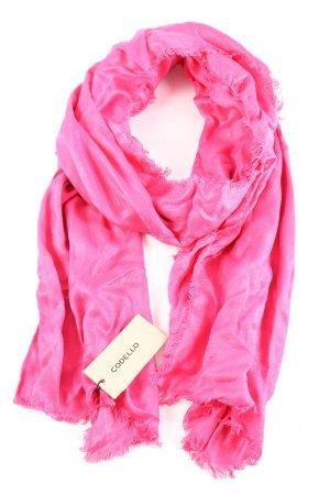 Codello Bufanda de flecos rosa elegante