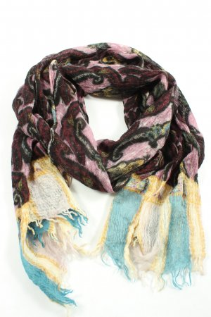 Codello Fringed Scarf mixed pattern casual look