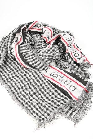 Codello Bufanda de flecos negro-blanco look casual