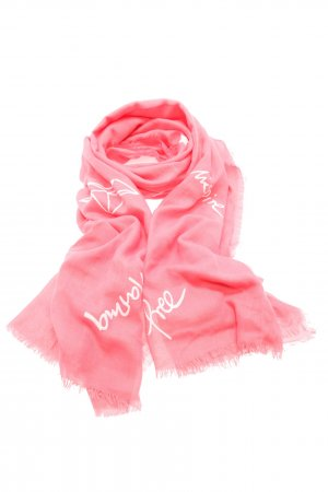 Codello Fringed Scarf pink printed lettering casual look