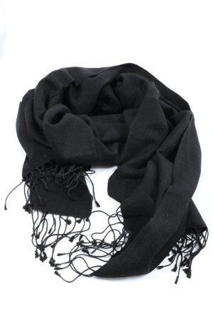 Codello Bufanda de flecos negro look casual