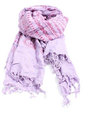 Codello Écharpe à franges violet-rose motif abstrait style décontracté