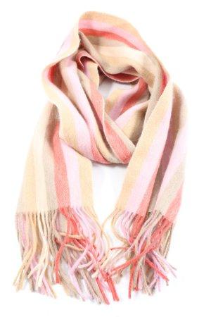 Codello Bufanda de flecos crema-rosa estampado a rayas look casual