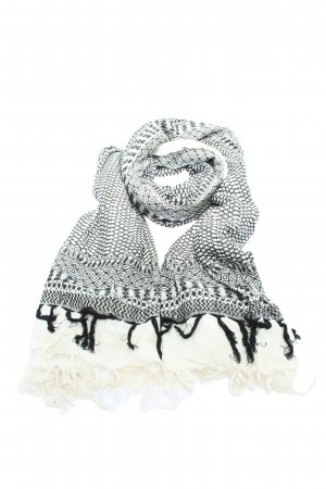 Codello Fringed Scarf light grey-white allover print casual look