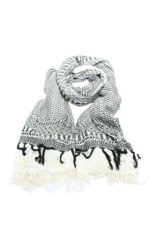 Codello Bufanda de flecos gris claro-blanco look casual