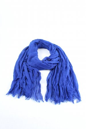 Codello Bufanda de flecos azul look casual